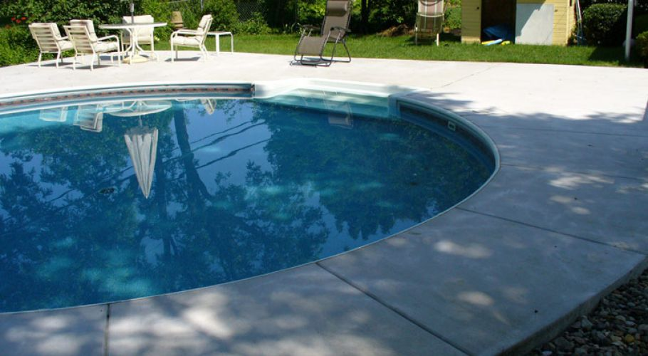 Coping, cement and liner installation Plymouth, MI Thomas Pool Service