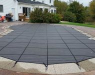 Latham Products 9000MX  Mesh Safety cover Thomas Pool Service, Pinckney, MI
