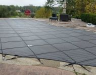 Kafko Safety Cover installation Thomas Pool Service Pinckney, MI