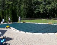 Latham Pool Products Mesh Safety cover Brighton, MI. Thomas Pool Service
