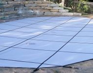 Swimming Pool Safety Cover Replacement Thomas Pool Service Pinckney, MI.