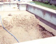 In-ground Vinyl Liner Pool with Vermiculite Repair in Livonia, MI