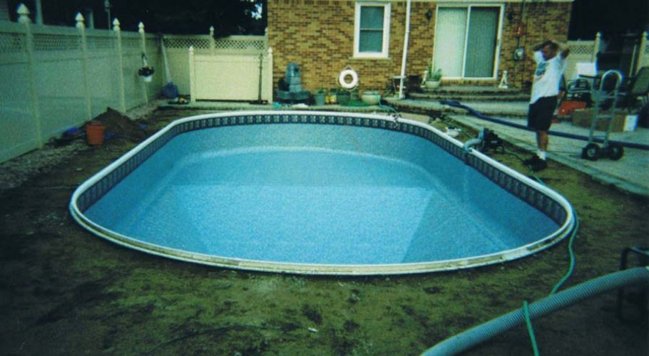 New Pool Coping & Vinyl Liner Installed in Livonia, MI Thomas Pool Service