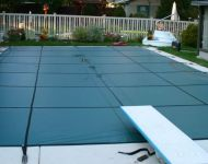 Safety Cover Heavy Duty Solid Latham Products Livonia, MI. Thomas Pool Service