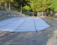 Coverstar Heavy Duty Solid Safety Cover Installation Hamburg Township, MI. Thomas Pool Service