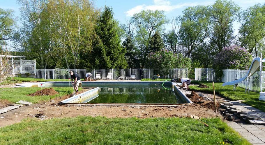 Swimming Pool Renovation with Latham Pool Products Thomas Pool Service