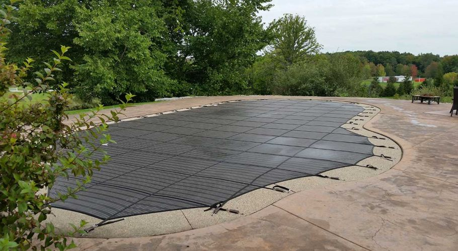 Latham Coverstar Safety Cover Thomas Pool Service Pinckney, MI.
