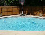 Completed Octagon shaped Kafko Pool, Howell, MI
