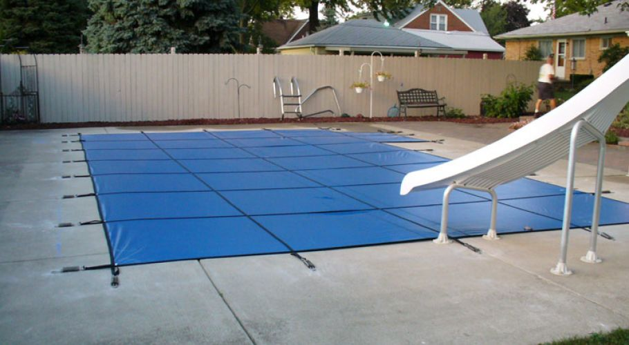 Latham Safety Covers Thomas Pool Service Pinckney, MI.