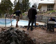 Removing Concrete & Coping 20 x 40 In-ground Pool Thomas Pool Service Pinckney, MI.