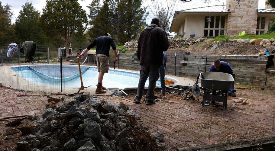 Pool Renovation Amp Step Replacement Removing Concrete
