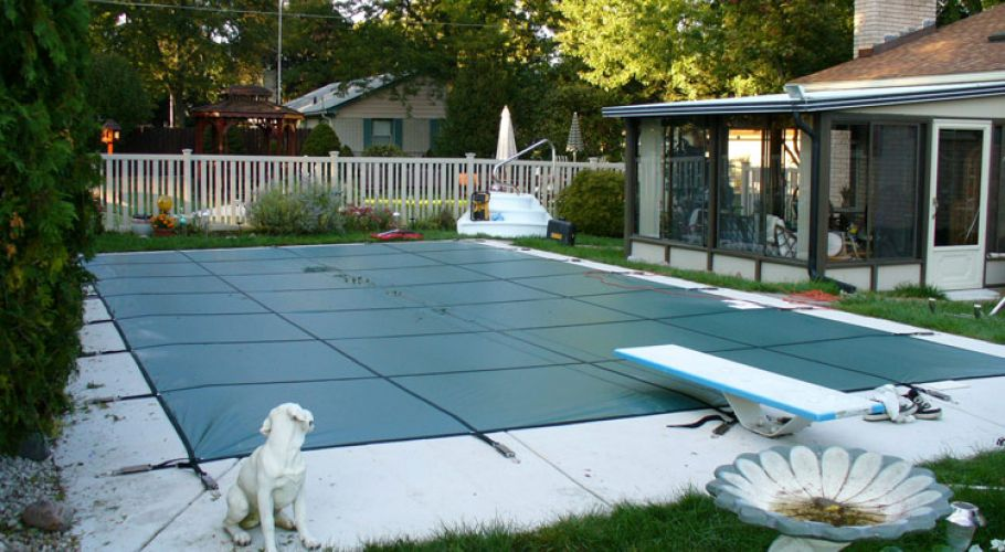16 x 32 In-ground Safety Cover Installation Livonia, MI. Thomas Pool Service