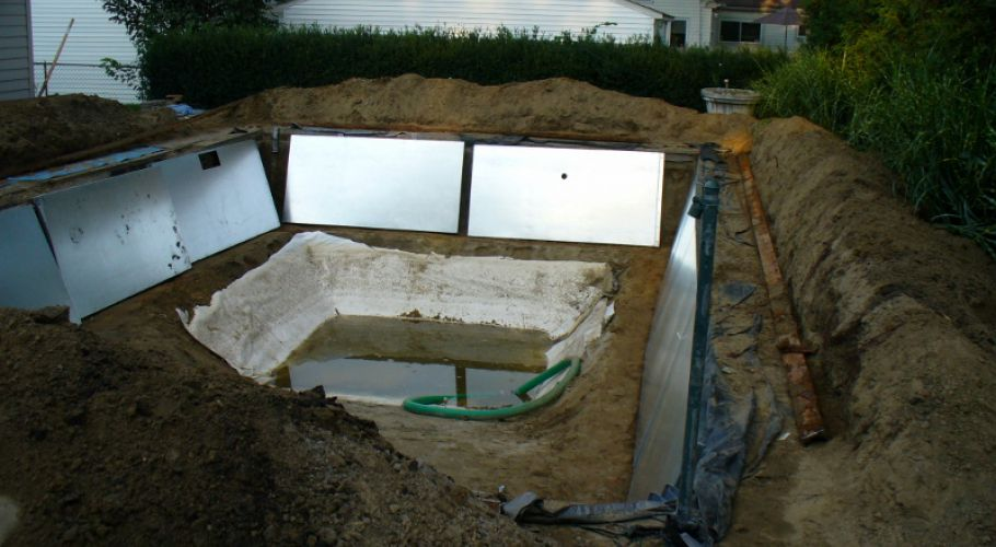 Installing New Galvanized Pool Walls Thomas Pool Service