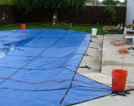 Kafko Solid Safety Cover installation Garden City, MI. Thomas Pool Service